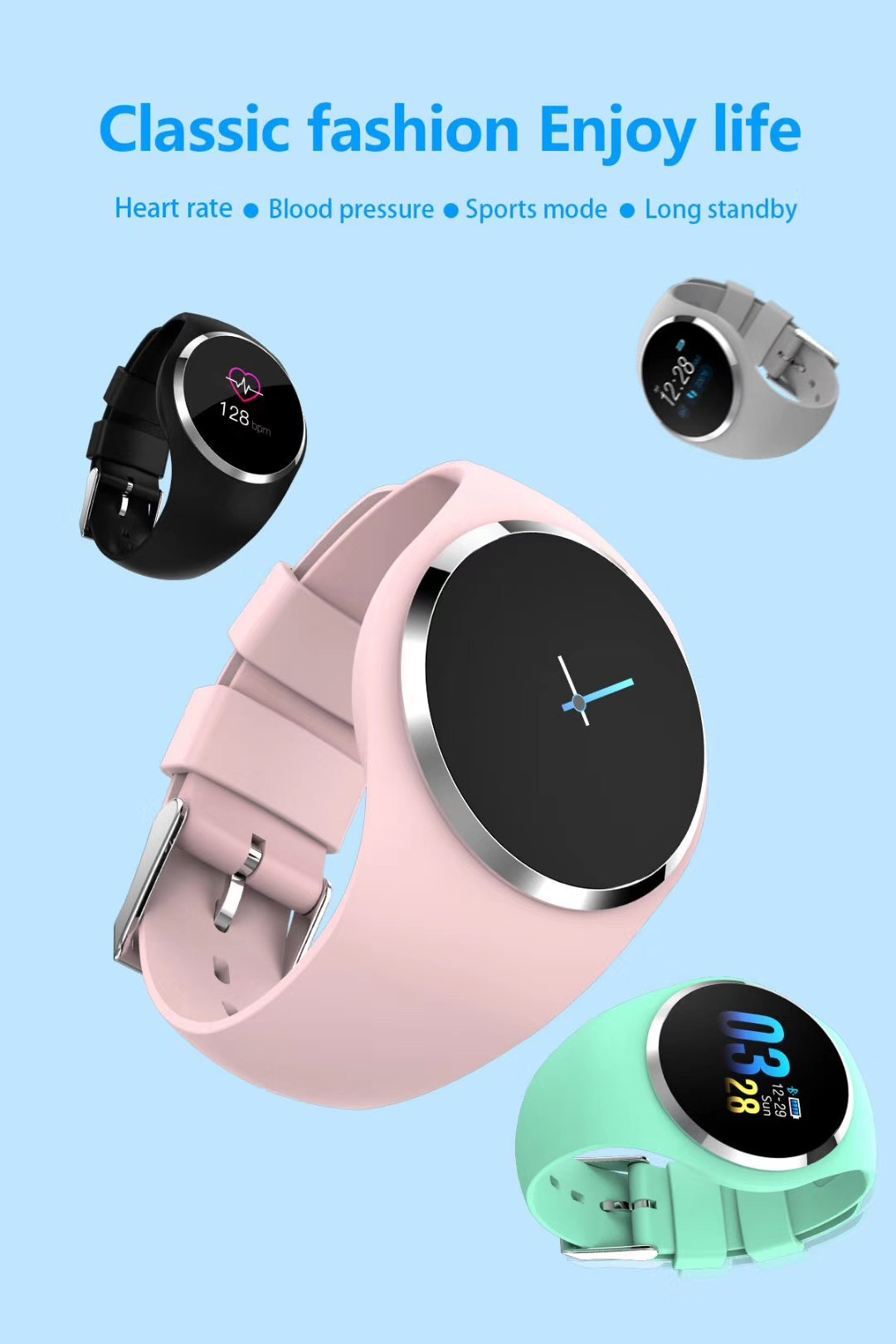 Single Touch Panel 대 한 Men Women Sport Smart Watch