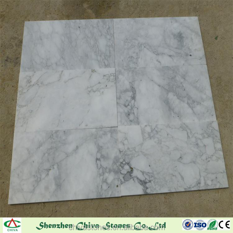 White color marbles arabescato with big white flower for mosaics