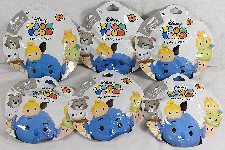Bundle of 6: Disney Tsum Tsum Mystery Stack Pack Series 3