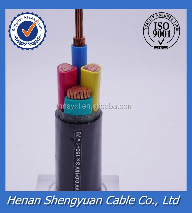 PVC insulation and jacket electrical cable specifications