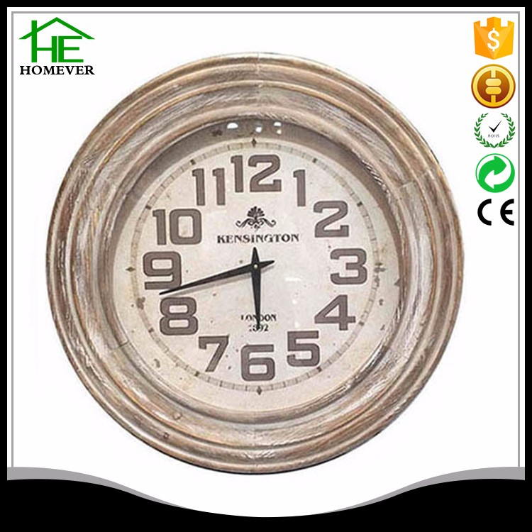 Chinese ce retro solid fir young town quartz wall clock