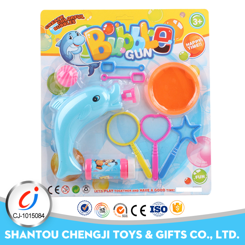 Best price electric toy flavored soap bubble gun fish for kids