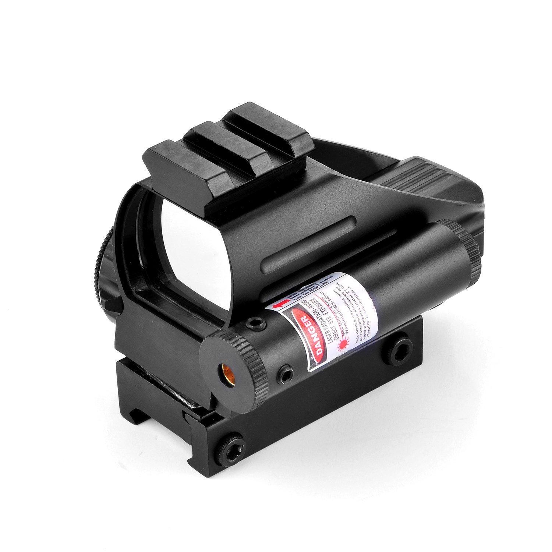 Freehawk® Optics Accessories/ Rifle Scope/Gun Scope/Gun sights Illuminated Holographic Laser Sight Scope Reflex 4 Red Green Dot Reticle W/ 22mm Picatinny Rail