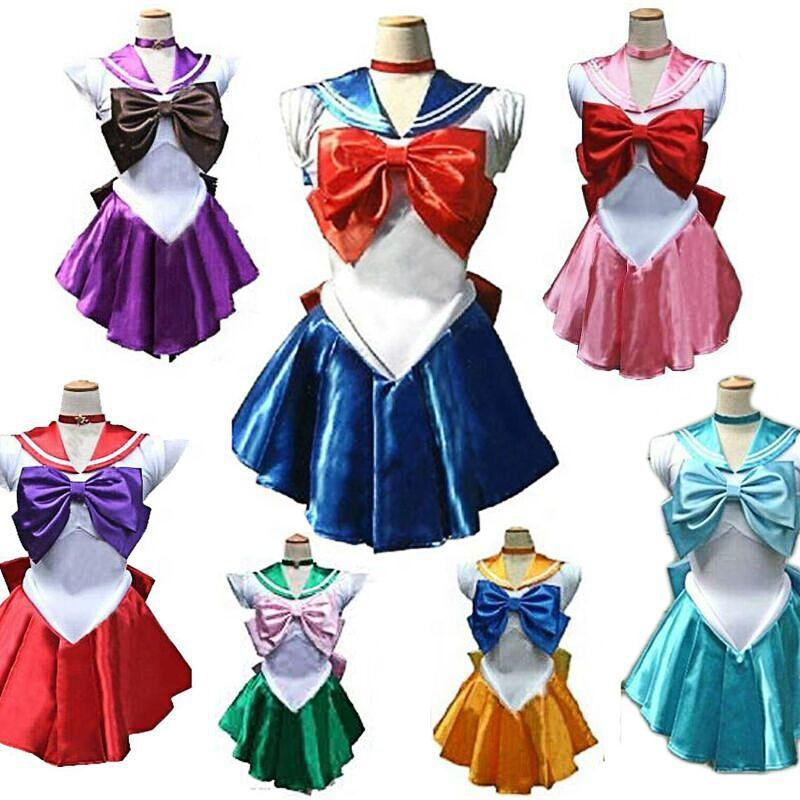 Sailor Moon Cosplay Costume Uniform Fancy Dress Sailormoon Customized XXS-XXXL