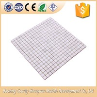 Interior And Outdoor Decoration Natural White Marble Square Stone Mosaic Tiles Best Price