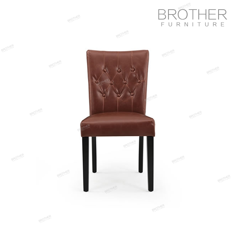 Birch wood legs banquet chair high back dinning chairs fabric