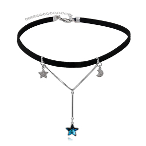 45077 Xuping moon and star jewelry choker necklace+crystals from Swarovski necklace jewelry
