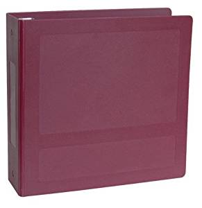 """Silver Base Antimicrobial Side Open 5 Ring Molded Binder Size: 2"""""""