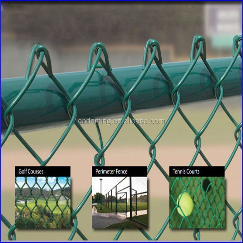DM Galvanized Chain Link Fence/Mesh for sport field/wire mesh fening