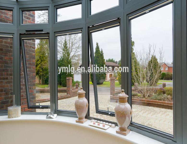 Moderne Conception Étanche Extérieur En Aluminium Cadre En Verre Auvent  Fenêtre