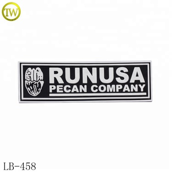 Topwin supplier made small brand name soft rubber pvc patch for jacket