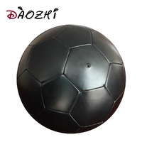 full black soccer ball non - toxic pass 6P PVC synthetic leather football ball