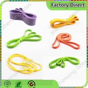 Popular strong natural rubber latex door gym elastic bands fitness