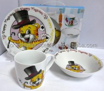 Custom Children Plastic Dinner Sets Baby Dining Set Porcelain Dinnerware For Kids With