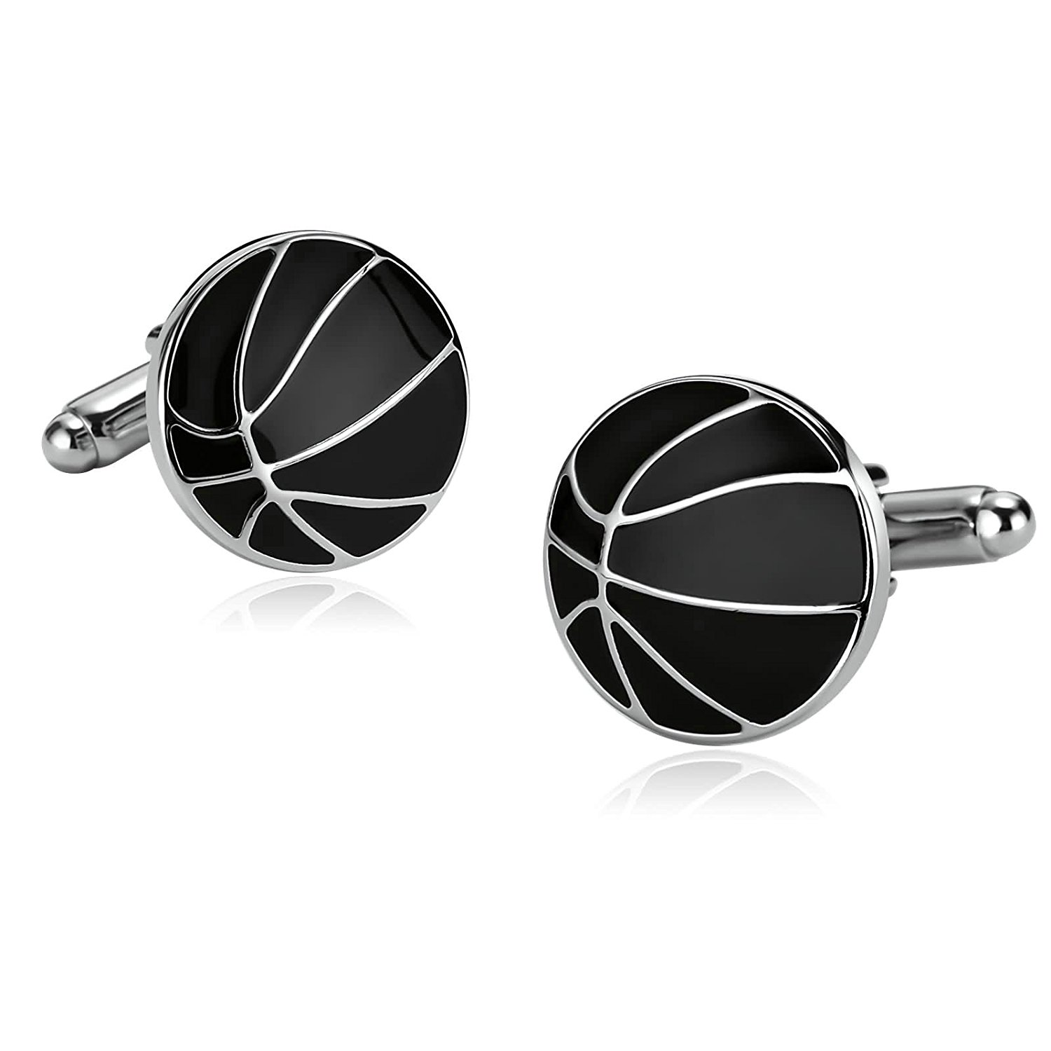 Aooaz 5 Styles Mens Stainless Steel Cufflinks 2Pcs, Novelty Cufflinks, Dad Unique Jewelry Box Charm Mh96