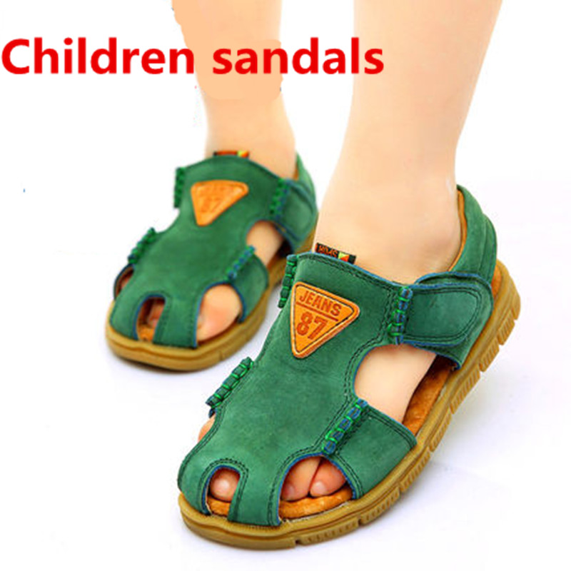 Boys Summer Sandals Genuine Leather Fashion baby shoes Children Beach Light Shoes Sandals Boys Girls Slippers