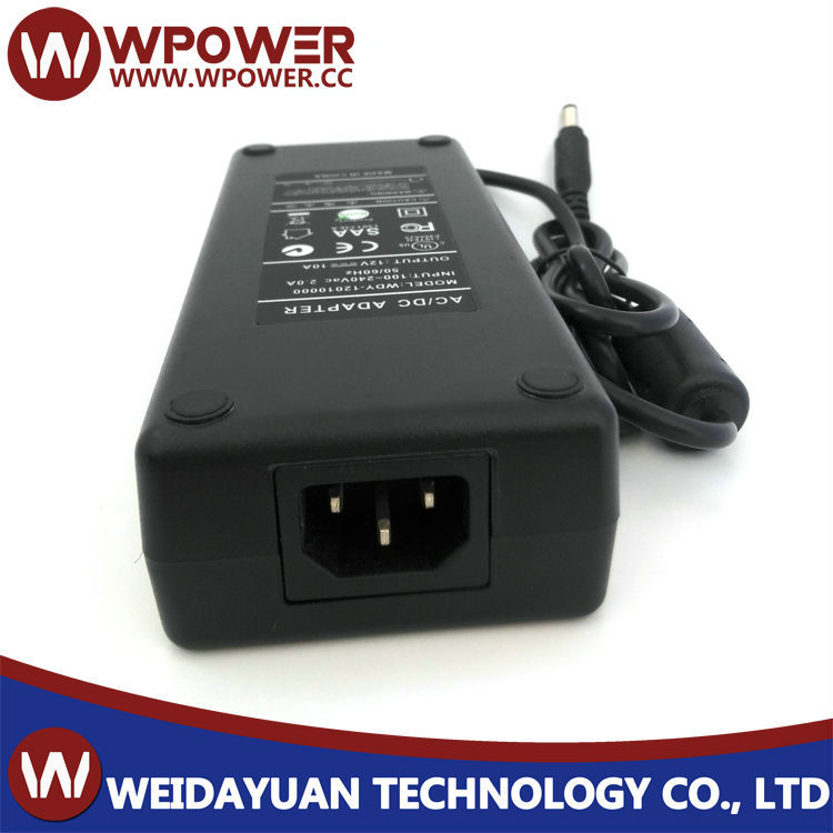 120 Watt 12v 10 Amp Ac Adapter For 120w 12vdc 10a Power Supply + ...