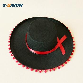 S-UNION no tejida fiesta tapa zorro sombrero carnaval sombreros mexicanos  sombrero de fieltro de 9b69f3d336d