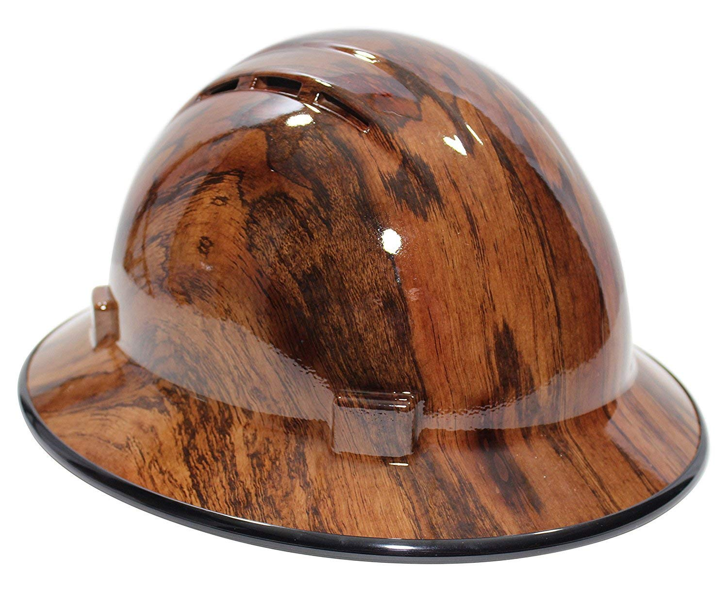 Get quotations · hardhatgear custom hydro dipped full brim non vented hard hat in the woody