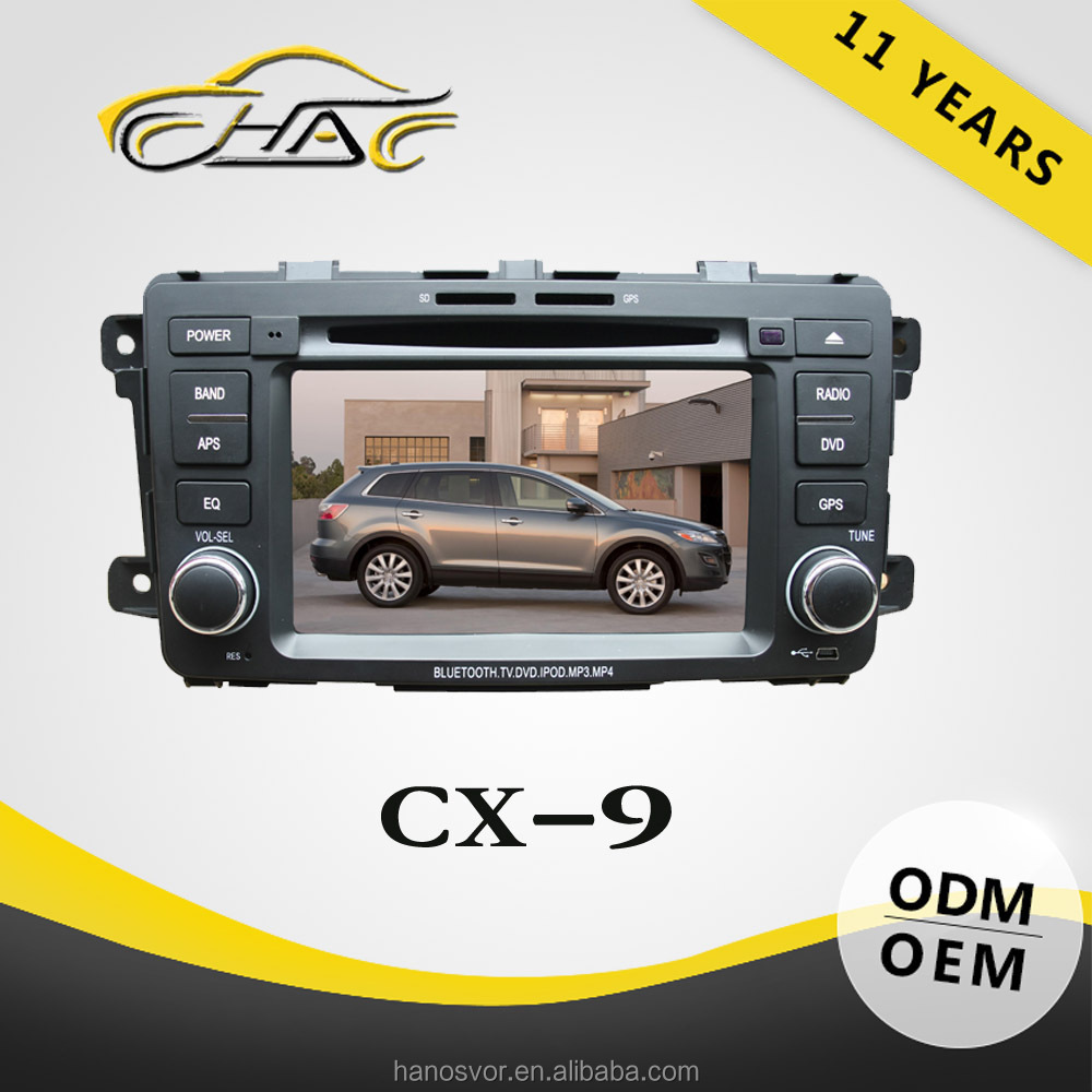 Change language car gps for mazda cx9 with car gps navigation Bluetooth dvd mp4 player radio