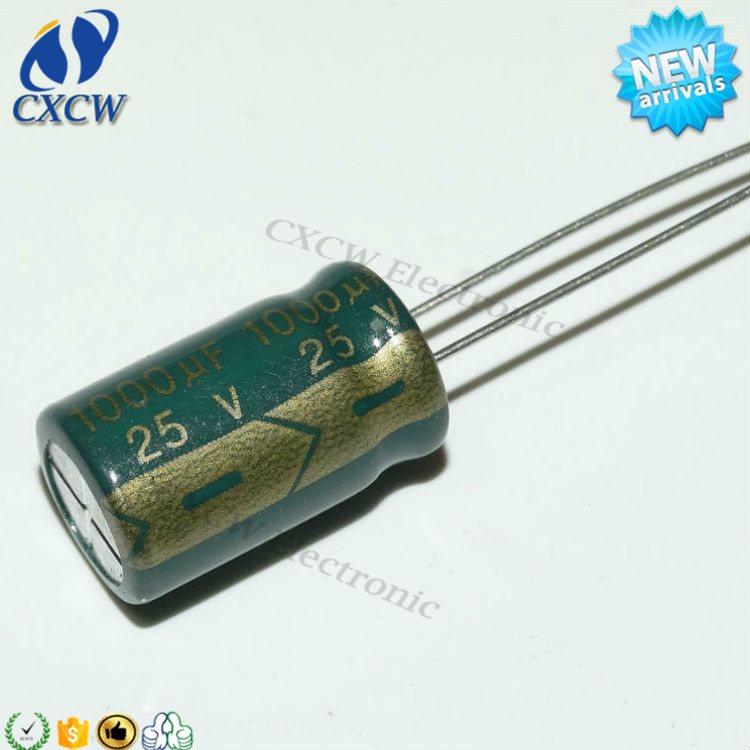 Low impedance 25V100UF 6*12mm Aluminum electrolytic capacitor cheap price