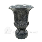 For Tombstone Design For Tombstone Wholesale High Quality Cemetery Flower Vase Labrador Blue Granite Flower Vase For Tombstone