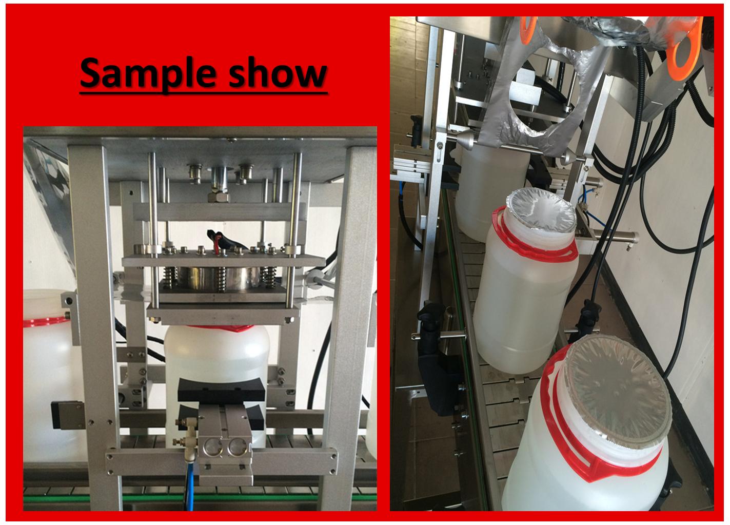 Automatic fruit jam jar/bucket sealing machine in good quality
