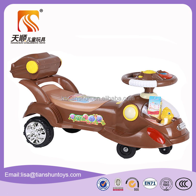 Baby Ride On Toys Swing Car Plastic Kids wiggle Car With steering wheel
