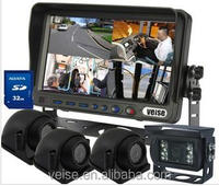SD card DVR 7 inch rear view camera system for truck