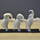 Decorative polyresin figurine white elephant desk pieces home decor
