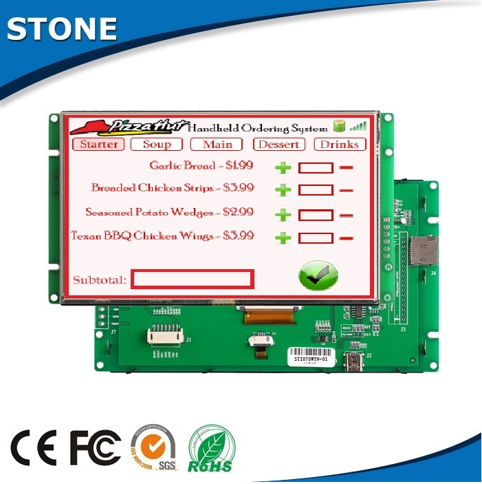 "Digital 4.3"" screen monitor manufacturer touch advertising lcd"
