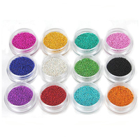 Crystal Caviar Beads for Nails Art Decoration 3D Micro Bead AB Glitter Rhinestones Nails Caviar
