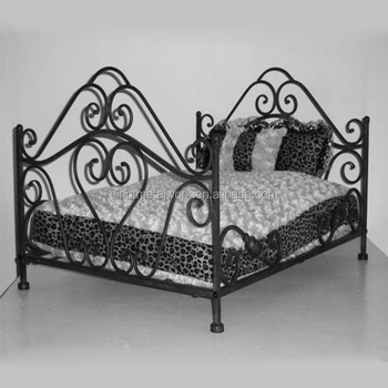 Best Choice Wrought Iron Designer Dog Beds Forged Pet Bed Metal Frame Day