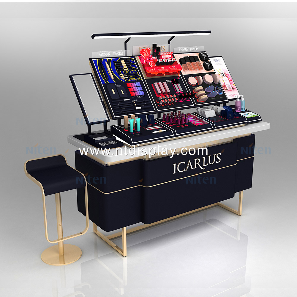 Good sale black makeup tester cosmetic display stand