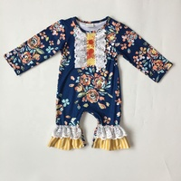 Baby clothes 2019 print flower cotton fabric fashion latest design newborn rompers