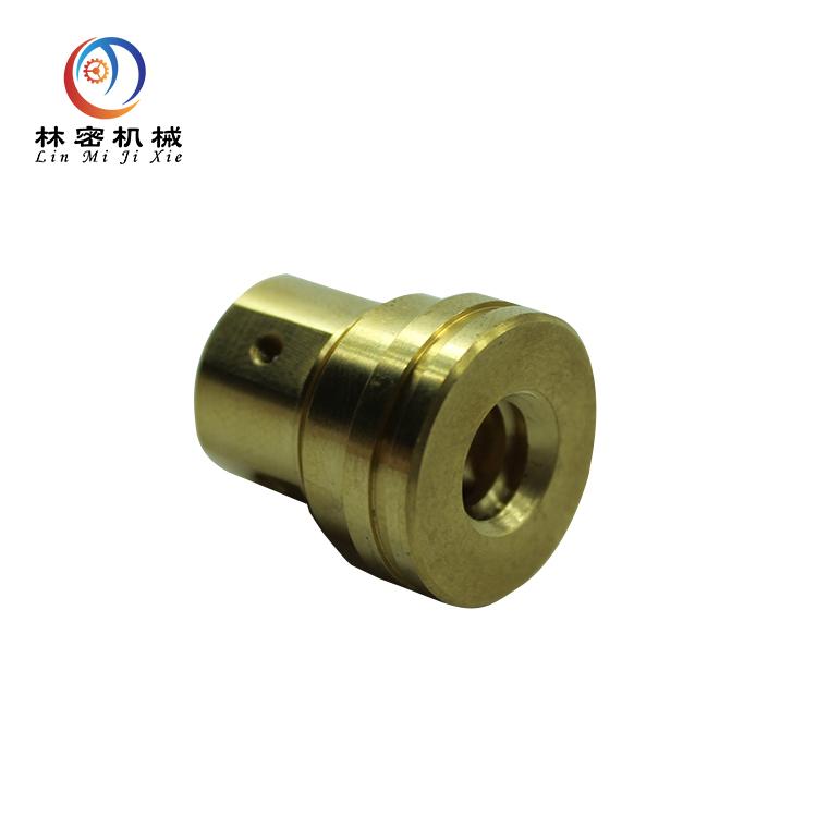 CNC turning cnc lathe machining brass electrical equipment parts batch turning