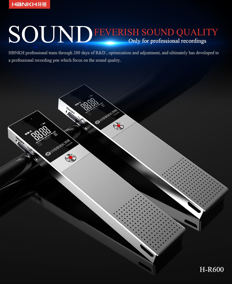 8gb automatic variable speed playback voice recorder