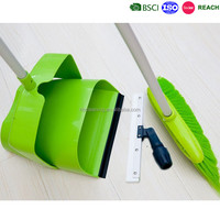 top quality plastic windproof dustpan and brush and floor squeegee set