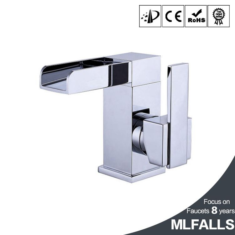 Modern style deck mounted bathroom fittings basin finished chrome sink taps MLFALLS