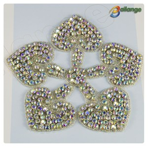 Wholesale hand sparkling flower bling silver bead crystal pearl Bailange Handmade rhinestone slider beads for bridal sashes