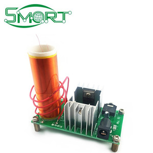 Smart electronics~DIY Electronic Kit Parts Tesla Coil Kit 15W MINI Music  Loudspeaker Kit Electronique Music Production