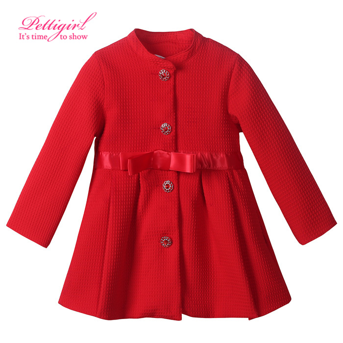 (only left size 3 4) 2016 Red Girl Winter Coat Fashion