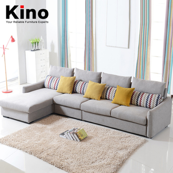 Modern Contracted Fabric Sofa Small Family Living Room Sofa 3 Seater