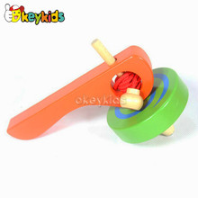 2016 wholesale kids wooden toy gyro, high quality children wooden toy gyro, cheap baby wooden toy gyro W01B018