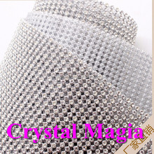 10 yards bling bling glass strass mesh crystal rhinestone fabric