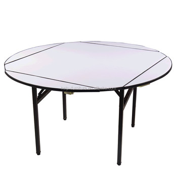 Round Expandable Dining Table With White
