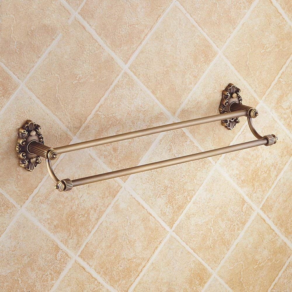 EQEQ in The American Style Towel Holder/Double Bath Towel/Towel/Copper Antique Shelf (Size: 615 Mm)