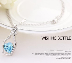 Wishing bottle - han edition heart crystal necklace pendant sautoir high-end fashion jewelry PN8275