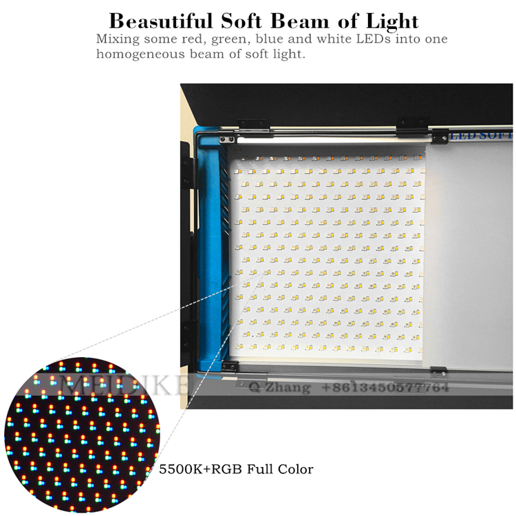 Yidoblo 5500k+White SMD LED RGB panel light broadcast Lamp for Film Studio Lighting with wireless Bluetooth Remote