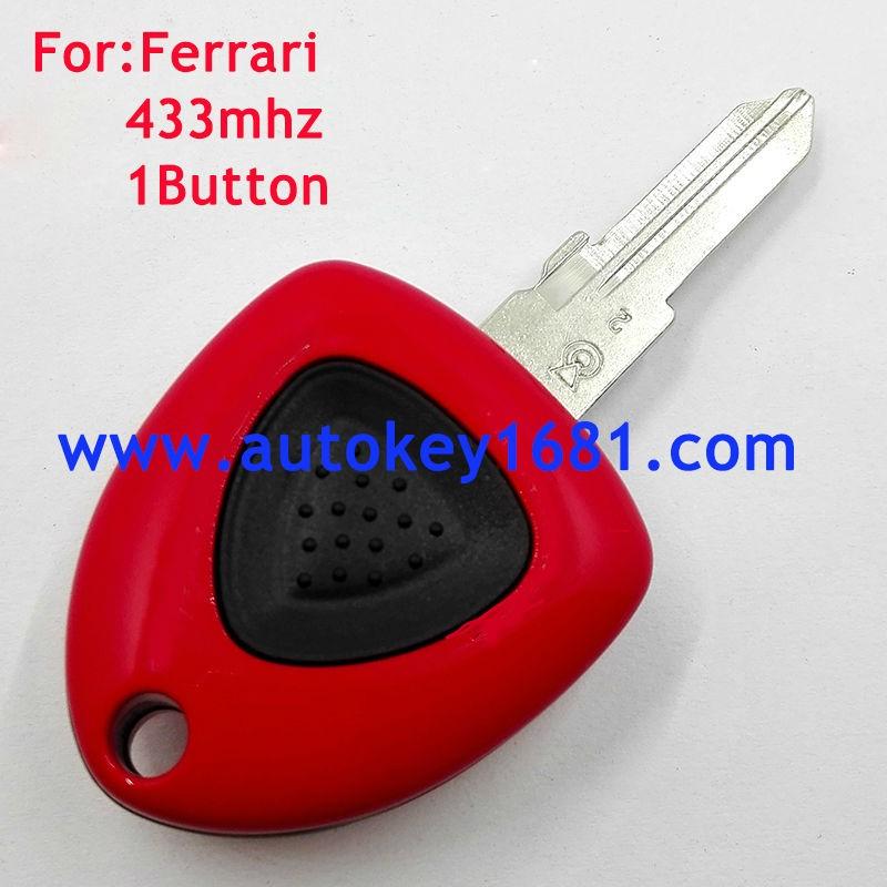 1 bouton intelligent à distance clé 433 mhz fob pour ferrari f430